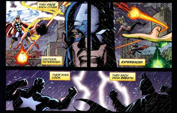 Captain America and Batman Fight - JLA:Avengers - Matt Reads Comics