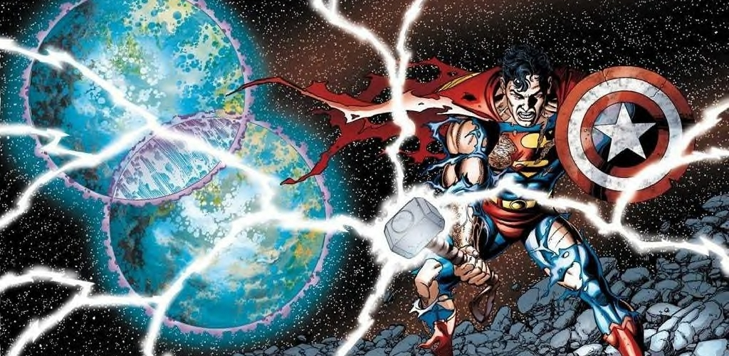 JLA/Avengers - Superman Thor's Hammer Cap's Shield - Matt Reads Comics