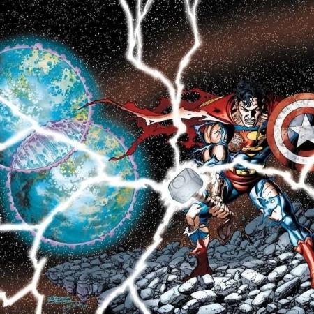 JLA/Avengers - Superman Thor's Hammer Cap's Shield - Matt Reads Comics