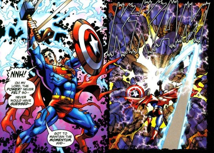 Superman Swings Thor's Hammer - JLA/Avengers - Matt Reads Comics