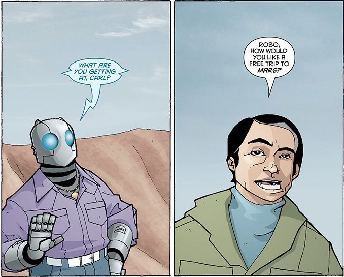 Robo and Carl Sagan - Atomic Robo of Mars - Matt Reads Comics
