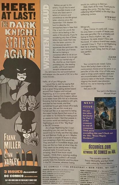 Nightwing Letters Page - Matt Reads Comics