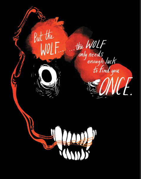 The Wolf Full Page Threatening Emily Carroll Through the Woods - Matt Reads Comics