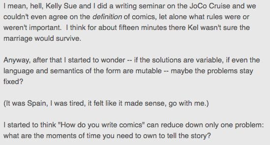 Fraction Kelly Sue What Are Comics - Matt Reads Comics