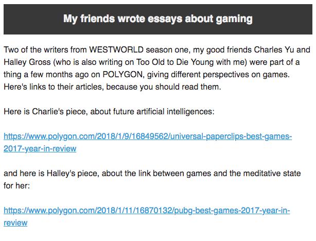 Brubaker Friends Essays Gaming - Matt Reads Comics