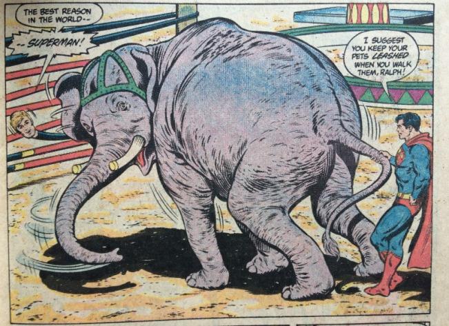 Superman Leashes an Elephant - Matt Reads Comics