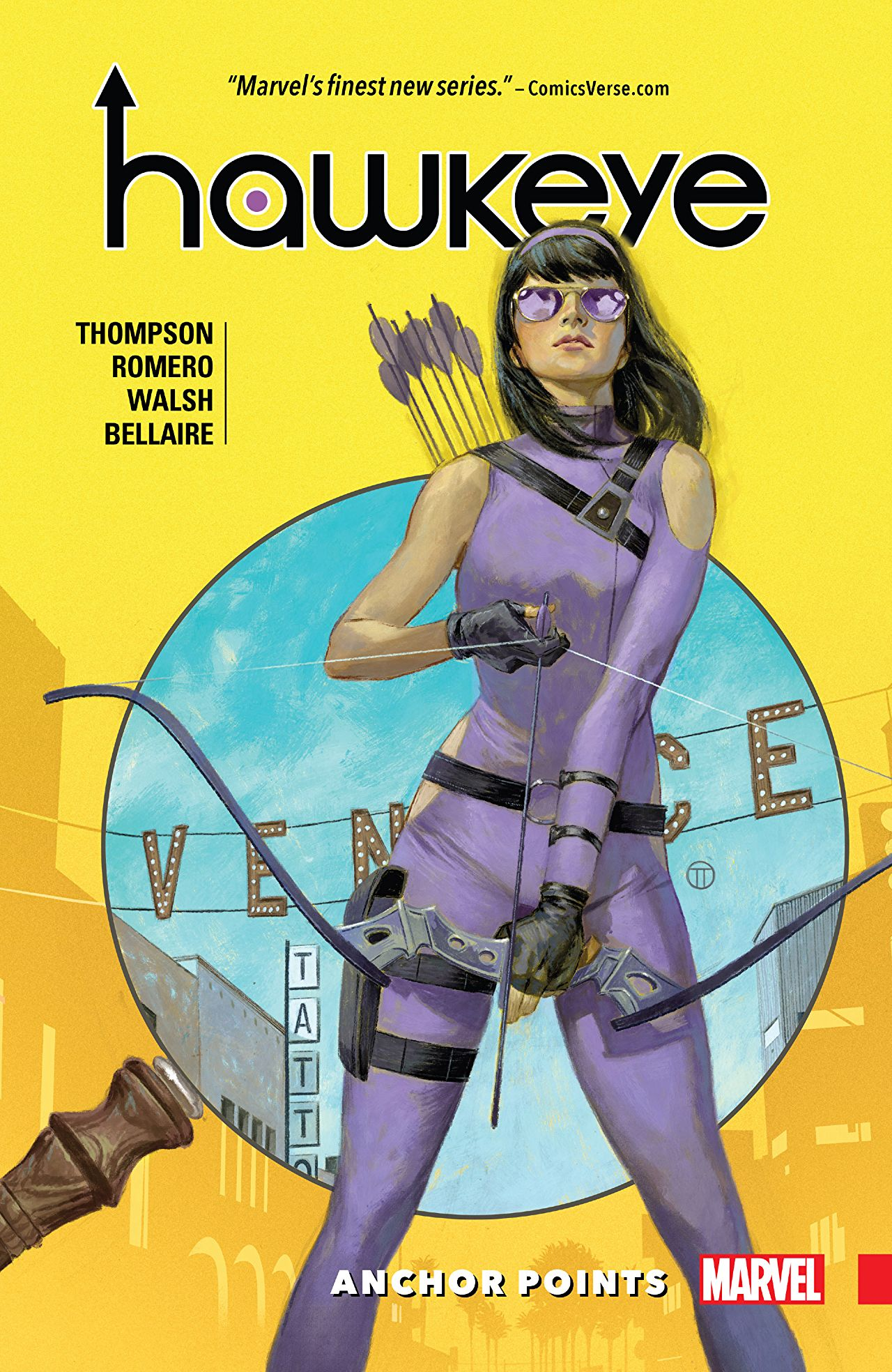 Hawkeye Anchor Points Cover - Matt Reads Comics