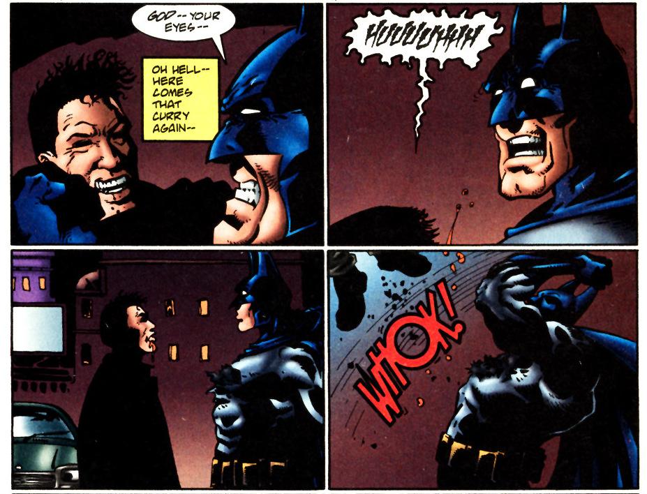 Hitman Batman Vomit Puke Scene Tomasi Interview