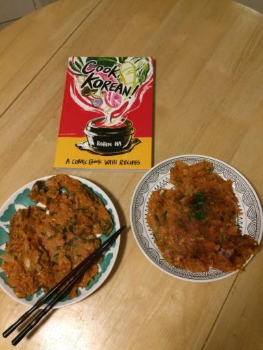The Finished Cook Korean Kimchi Pancake Product