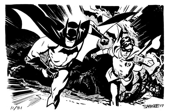 Batman Robin Run Batober 2018 Chris Samnee