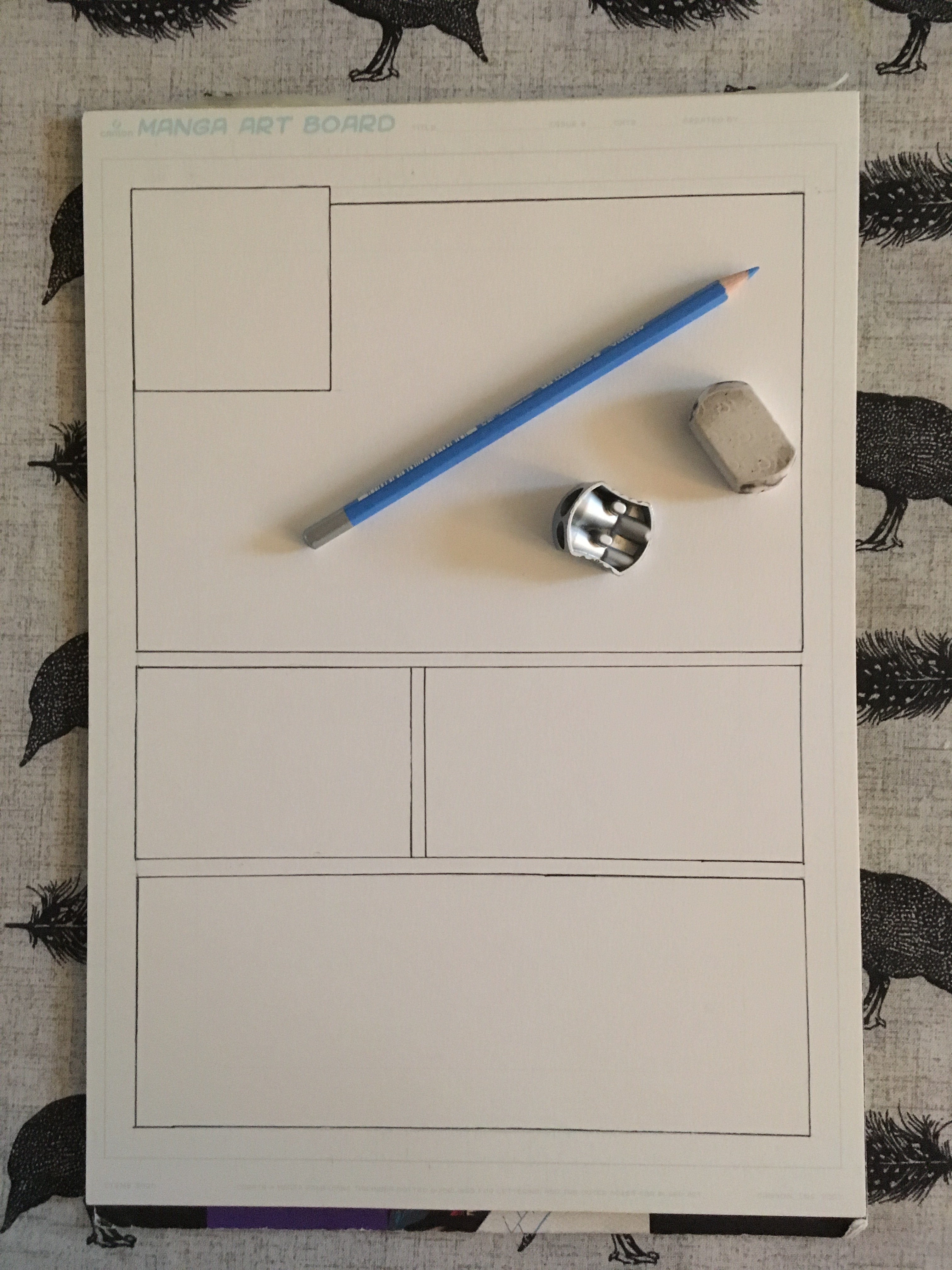 Outlining Panels for a Comics Page