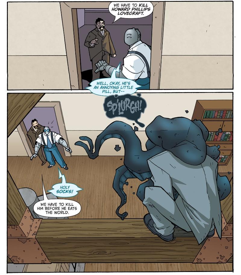 Atomic Robo Versus HP Lovecraft